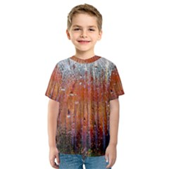 Glass Colorful Abstract Background Kids  Sport Mesh Tee