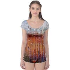 Glass Colorful Abstract Background Boyleg Leotard