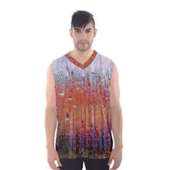 Glass Colorful Abstract Background Men s Basketball Tank Top