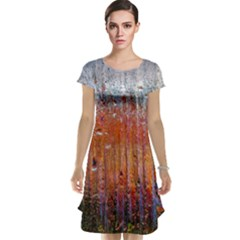 Glass Colorful Abstract Background Cap Sleeve Nightdress