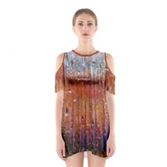 Glass Colorful Abstract Background Shoulder Cutout One Piece
