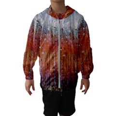 Glass Colorful Abstract Background Hooded Wind Breaker (kids)