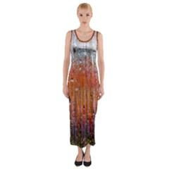Glass Colorful Abstract Background Fitted Maxi Dress