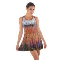 Glass Colorful Abstract Background Cotton Racerback Dress
