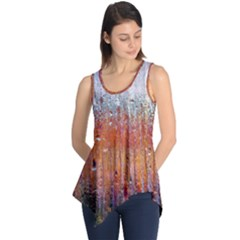 Glass Colorful Abstract Background Sleeveless Tunic