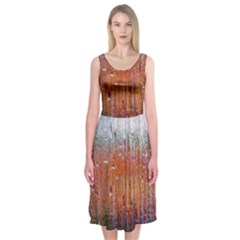 Glass Colorful Abstract Background Midi Sleeveless Dress