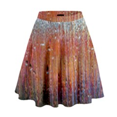 Glass Colorful Abstract Background High Waist Skirt