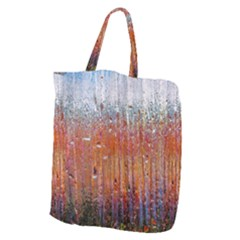 Glass Colorful Abstract Background Giant Grocery Zipper Tote