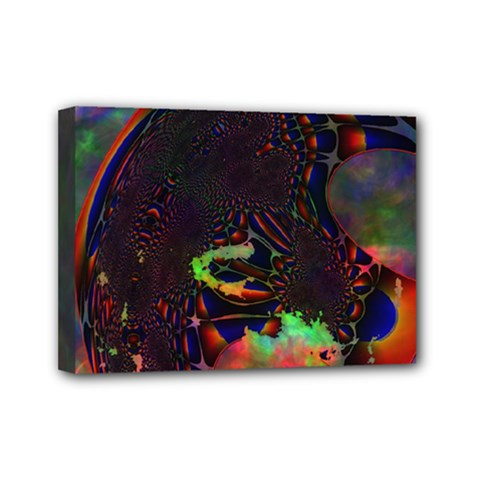 The Fourth Dimension Fractal Mini Canvas 7  X 5