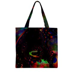 The Fourth Dimension Fractal Zipper Grocery Tote Bag