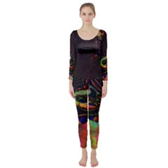 The Fourth Dimension Fractal Long Sleeve Catsuit