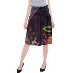 The Fourth Dimension Fractal Midi Beach Skirt