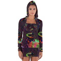 The Fourth Dimension Fractal Long Sleeve Hooded T Shirt