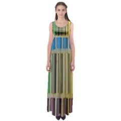 Pastels Cretaceous About Color Empire Waist Maxi Dress