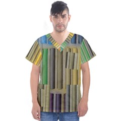 Pastels Cretaceous About Color Men s V Neck Scrub Top