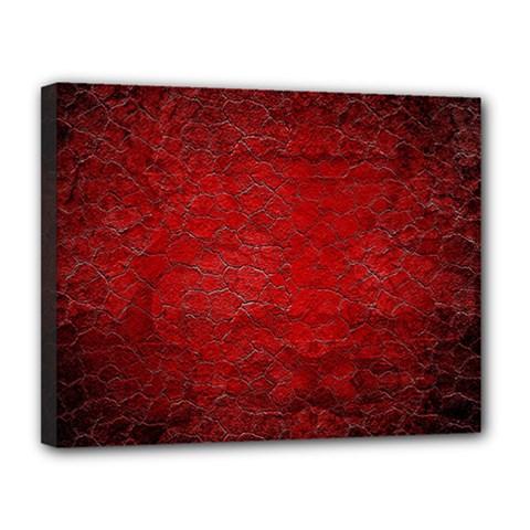 Red Grunge Texture Black Gradient Canvas 14  X 11