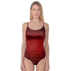 Red Grunge Texture Black Gradient Camisole Leotard