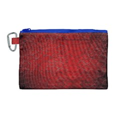 Red Grunge Texture Black Gradient Canvas Cosmetic Bag (large)