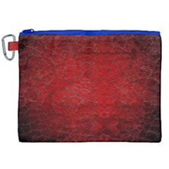Red Grunge Texture Black Gradient Canvas Cosmetic Bag (xxl)