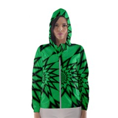 The Fourth Dimension Fractal Hooded Wind Breaker (women)