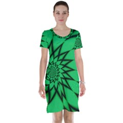 The Fourth Dimension Fractal Short Sleeve Nightdress