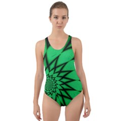 The Fourth Dimension Fractal Cut Out Back One Piece Swimsuit