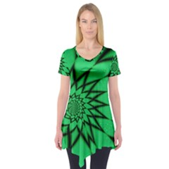 The Fourth Dimension Fractal Short Sleeve Tunic