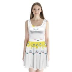 Cloud Cloudlet Sun Sky Milota Split Back Mini Dress