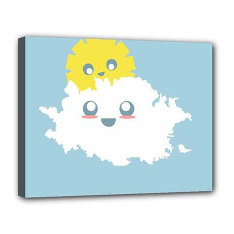 Cloud Cloudlet Sun Sky Milota Canvas 14  X 11