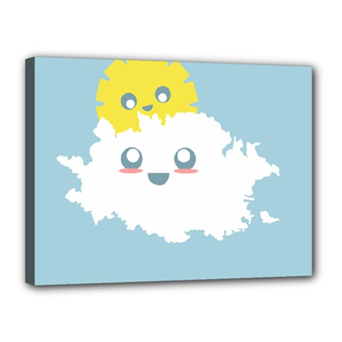 Cloud Cloudlet Sun Sky Milota Canvas 16  X 12
