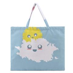 Cloud Cloudlet Sun Sky Milota Zipper Large Tote Bag