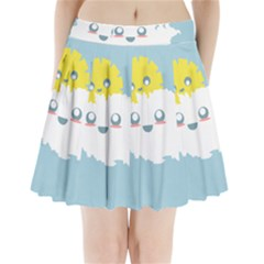 Cloud Cloudlet Sun Sky Milota Pleated Mini Skirt