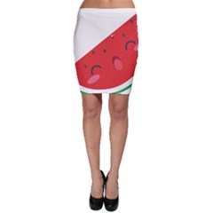 Watermelon Red Network Fruit Juicy Bodycon Skirt