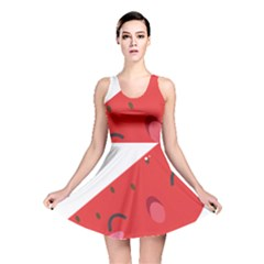 Watermelon Red Network Fruit Juicy Reversible Skater Dress
