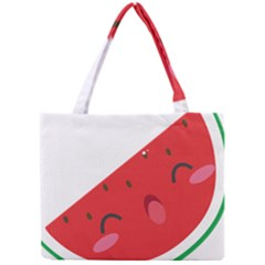 Watermelon Red Network Fruit Juicy Mini Tote Bag