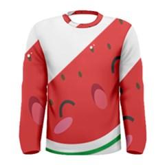 Watermelon Red Network Fruit Juicy Men s Long Sleeve Tee