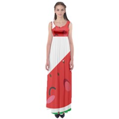 Watermelon Red Network Fruit Juicy Empire Waist Maxi Dress