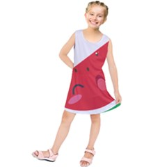 Watermelon Red Network Fruit Juicy Kids  Tunic Dress