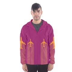 Airplane Jet Yellow Flying Wings Hooded Wind Breaker (men)