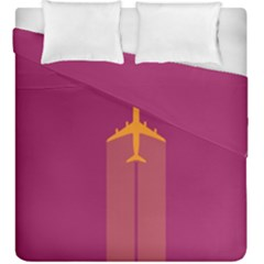 Airplane Jet Yellow Flying Wings Duvet Cover Double Side (king Size)