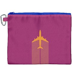 Airplane Jet Yellow Flying Wings Canvas Cosmetic Bag (xxxl)