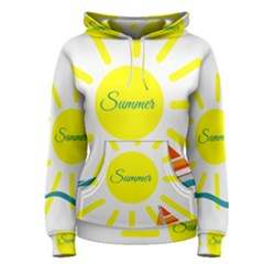 Summer Beach Holiday Holidays Sun Women s Pullover Hoodie