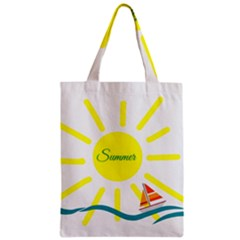 Summer Beach Holiday Holidays Sun Zipper Classic Tote Bag