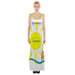 Summer Beach Holiday Holidays Sun Maxi Thigh Split Dress