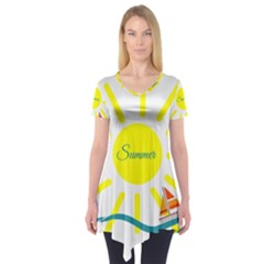 Summer Beach Holiday Holidays Sun Short Sleeve Tunic