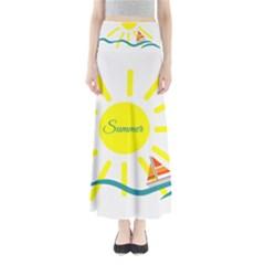 Summer Beach Holiday Holidays Sun Full Length Maxi Skirt