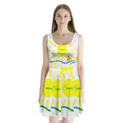 Summer Beach Holiday Holidays Sun Split Back Mini Dress