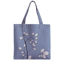 Branch Leaves Branches Plant Zipper Grocery Tote Bag