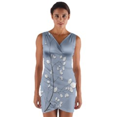 Branch Leaves Branches Plant Wrap Front Bodycon Dress