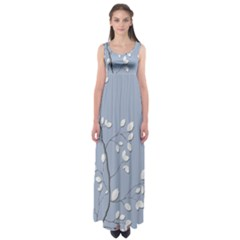 Branch Leaves Branches Plant Empire Waist Maxi Dress